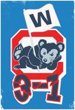 Reclining 3-1 W Bear Cub Posters
