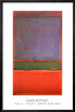 No. 6 (Violet, Green and Red), 1951 Prints by Mark Rothko