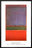 Nr 6, violett, grön och röd, 1951 Planscher av Mark Rothko