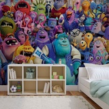 Disney Monsters Inc. - Group - Vlies Non-Woven Mural Vlies Wallpaper Mural