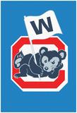 Reclining W Cubbie Poster