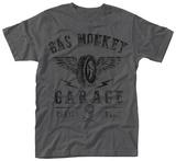 Gas Monkey- Distressed Flying Tire Logo T-skjorte