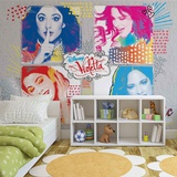 Disney Violetta - Pop Art - Vlies Non-Woven Mural Vlies-tapettijuliste