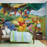 Disney Winnie the Pooh - Picnic - Vlies Non-Woven Mural Vlies-tapettijuliste