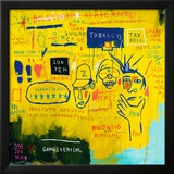 Hollywood Africans, 1983 Framed Giclee Print by Jean-Michel Basquiat