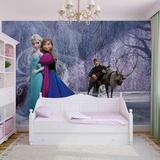 Disney Frozen - Elsa and Anna - Vlies Non-Woven Mural Ikke-vevd (vlies) tapetmaleri