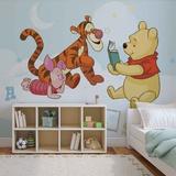 Disney Winnie the Pooh - Reading - Vlies Non-Woven Mural Vlies-vægplakat