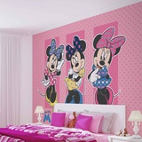 Disney - Minnie Mouse Outfits - Vlies Non-Woven Mural Vlies-tapettijuliste