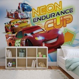 Disney Cars - Neon Endurance Cup - Vlies Non-Woven Mural Vlies-tapettijuliste
