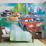 Disney Cars - Lightning McQueen and Miguel Camino - Vlies Non-Woven Mural Carta da parati decorativa