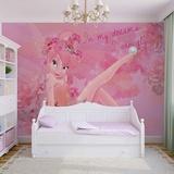 Disney Fairies - Pink Tinker Bell Non Woven Wallpaper Mural
