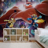 Disney Big Hero 6 - Hiro, Go Go, Fredzilla - Vlies Non-Woven Mural Vlies Wallpaper Mural