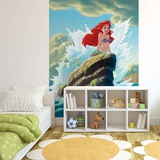 Disney The Little Mermaid - Ariel on Rock - Vlies Non-Woven Mural Vlies Wallpaper Mural