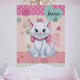 Disney Aristocats - Marie Patterned Background - Vlies Non-Woven Mural Vlies muurposter