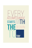 Motivational Poster for a Good Begining Stampa di  Vanzyst