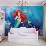 Disney The Little Mermaid - Ariel & Flounder - Vlies Non-Woven Mural Vlies-tapettijuliste
