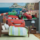 Disney Cars - Lightning McQueen and Francesco Bernoulli - Vlies Non-Woven Mural Vlies-tapettijuliste