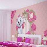 Disney Aristocats - Marie Pink Background - Vlies Non-Woven Mural Vlies Wallpaper Mural