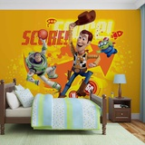 Disney Toy Story - Woody and Buzz Basketball - Vlies Non-Woven Mural Papier peint intissé