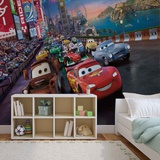 Disney Cars - Lightning McQueen London Race - Vlies Non-Woven Mural Vlies Wallpaper Mural