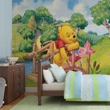 Disney Winnie the Pooh - Piglet and Pooh - Vlies Non-Woven Mural Vlies-tapettijuliste