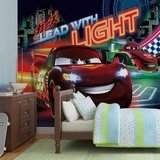 Disney Cars - Lead with Light - Vlies Non-Woven Mural Carta da parati decorativa