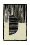 Abstract Linocut B Premium Giclee Print by  THE Studio