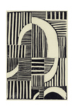 Abstract Linocut A Premium Giclee Print by  THE Studio