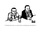 """I still think what unites us is crisper and more refreshing than what div..."" - New Yorker Cartoon Premium Giclee-trykk av Drew Dernavich"