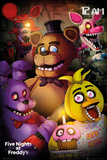 Five Night At- Freddys Group Poster