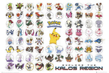 Pokemon- Kalos Region Poster