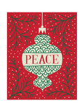 Jolly Holiday Ornaments Peace Premium Giclee-trykk av Michael Mullan