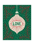 Jolly Holiday Ornaments Love Premium Giclee-trykk av Michael Mullan