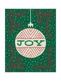 Jolly Holiday Ornaments Joy Premium Giclee-trykk av Michael Mullan