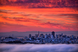 San Francisco Cityscape at Sunrise and Sweet Candy Skies Lámina fotográfica por Vincent James
