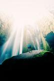In The Light, Iceland Waterfalls and Epic Light Fotografisk trykk av Vincent James