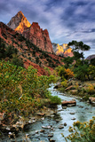 Virgin River Morning View, Zion National Park, Utah Photographic Print by Vincent James