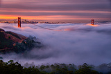 Living in this Dream of Fog and Light, Golden Gate Bridge, San Francisco Fotoprint av Vincent James