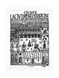 City of Kings, Now Lima, First New Chronicle and Good Government,16th, Biblioteca Nacional, Madrid Impressão giclée por Felipe Huaman Poma De Ayala