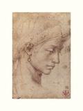 Testa Femminile Di Profilo Giclee-trykk av  Michelangelo