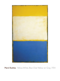 Yellow, White, Blue Over Yellow on Gray, 1954 Giclee Print by Mark Rothko