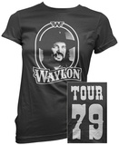 Women's: Waylon Jennings- Tour 79 White Logo (Front/Back) Maglietta