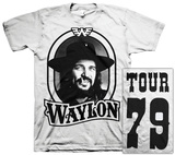 Waylon Jennings- Tour 79 Black Logo (Front/Back) T-Shirt