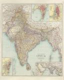 Thacker's Reduced Survey Map of India Impressão giclée por John George Bartholomew