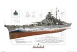 World Of Warships- Bismark Stampe
