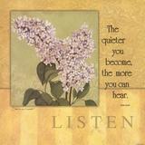 Listen - Lilac Pósters por Stephanie Marrott