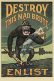 Destroy This Mad Brute Propaganda Poster Prints by  Stocktrek Images