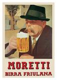 Moretti- Birra Friulana Julisteet