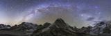 Panoramic View of Mt. Everest, Khumbu Glacier, Nuptse and Pumori Mountains in Nepal Fotografisk trykk av Stocktrek Images,
