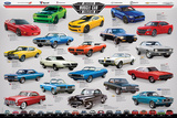 American Muscle Car Evolution Poster